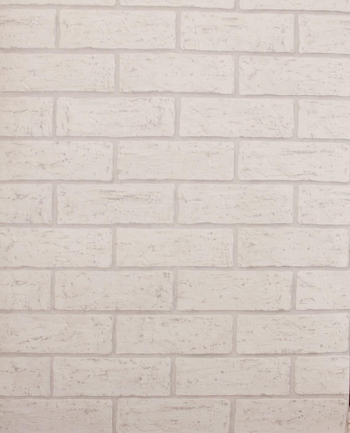 Tapeta ścienna Winylowa 74554 Gruba Biało Szara Cegła Efekt 3d Tapetyfarbyeu